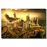 HERWS Pittura su Tela Pittura Decorativa Stampa 3D Eagle Classic Castle Magic Film Canvas Map Poster Stampe...