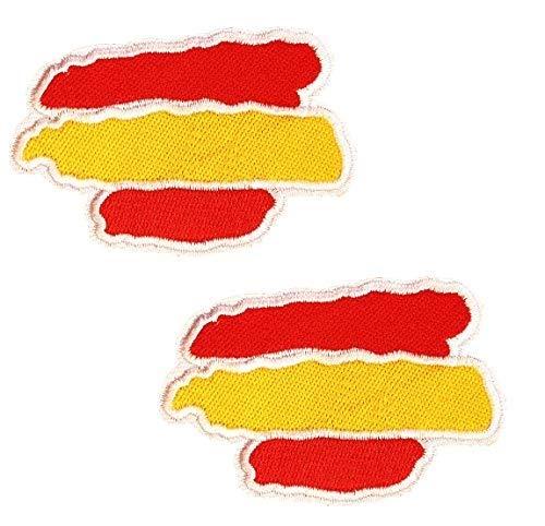 BANDERA DEL PARCHE España 5.5 * 3cm BORDADO PARA PLANCHAR O COSER