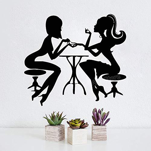 yaonuli schoonheidssalon muursticker vinyl sticker mode meisjes wanddecoratie vingernagel sticker