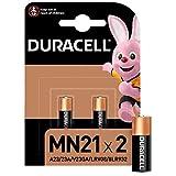 Duracell MN21 Pile Alcaline 12V, Lot de 2 ( A23 / 23A / V23GA / LRV08 / 8LR932 ), pour Télécommandes, Sonnettes de Porte sans Fil et Systèmes de Sécurité
