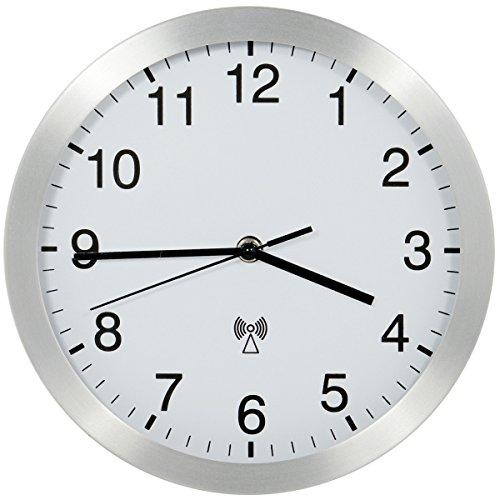 HaWe Funk-Werkstattuhr, Aluminium, weiß/schwarz, 25 x 25 x 5 cm