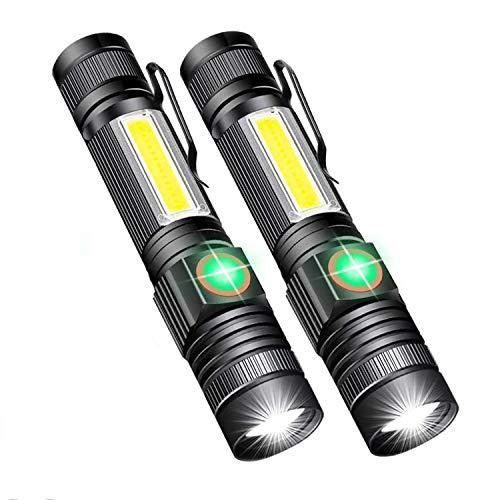 xfyx Linterna LED para Acampar, Linterna magnética, Resistente al Agua, Brillo Ajustable, para Correr, Emergencia por Huracanes, Senderismo, hogar y más
