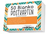 Blanko Postkarten Set mit 50 Karten zum Selbstgestalten und Selbstbedrucken - Hochqualitatives 300g/qm Papier - von Sophies Kartenwelt