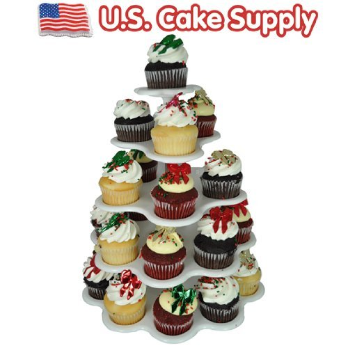27 Count Plastic Cupcake Dessert Stand With 5 Tiers