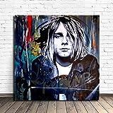 WJY Kurt Cobain Street Art Poster Malerei Auf Leinwand