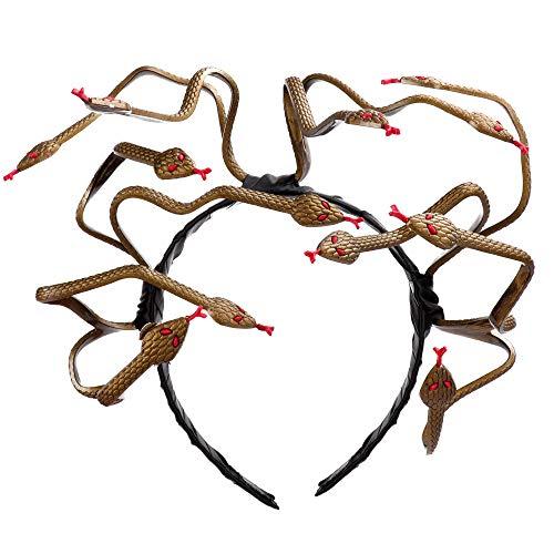 BaronHong Halloween Mardi Gras Kostuum Cosplay Medusa Snake Haarband voor volwassenen
