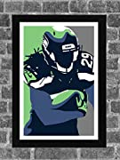Seattle Seahawks Earl Thomas Portrait Sports Print Art 11x17 (inches) Poster is ready for framing and printed on high-quality photo paper. All prints are carefully packed for shipping with soft tissue wrapping and durable tubing. Please note the bord...