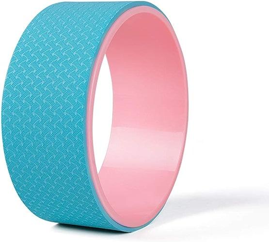 Roue de Yoga Exercice Roue Rouleau de Pilates de libération de Tension de Muscle - pour étirer équilibrer Augmenter la flexibilité et améliorer Le Bas du Dos