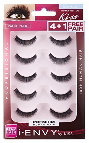 Kiss I Envy Juicy Volume 12Xs Value Pack 4+1 Lashes by Kiss
