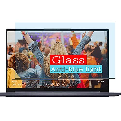 VacFun Filtro Luz Azul Vidrio Templado Protector de Pantalla, compatible con Lenovo Yoga Slim 750i Carbon 13.3' Visible Area Cristal Screen Protector(cobertura no completa)