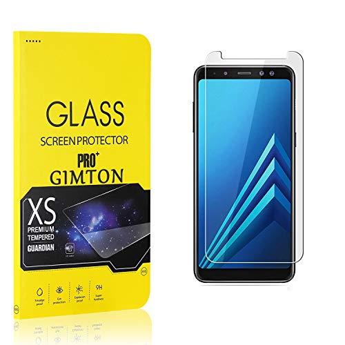 GIMTON Displayschutzfolie für Galaxy A8 Plus 2018, 9H Härte, Anti Bläschen Displayschutz Schutzfolie für Samsung Galaxy A8 Plus 2018, Einfach Installieren, 2 Stück