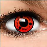 Sharingan Kontaktlinsen Naruto in rot inkl. Behälter - Top Linsenfinder Markenqualität, 1Paar (2 Stück)
