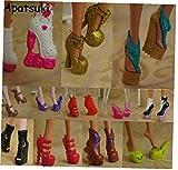 Angoter 10pairs Accesorios Zapatos Coloridos para la muñeca Monster High Botas de tacón Alto Sandalias de los Zapatos de la muñeca para Monster Mix Color al Azar
