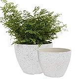Flower Pots Outdoor Garden Planters, Indoor Plant Pots with Drainage Holes,...