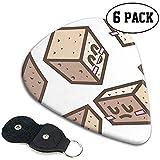 Tofu Cheese Cartoon Style Púas de guitarra Plectrums únicos de guitarra de celuloide, 12 paquetes en estuche para guitarra baja