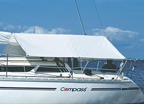 Compass Sonnensegel/Bootszubehör zum Sonnenschutz, UV-stabilisiert, Ösen aus INOX, Sonnenschutzsegel mit Stausack, 888007