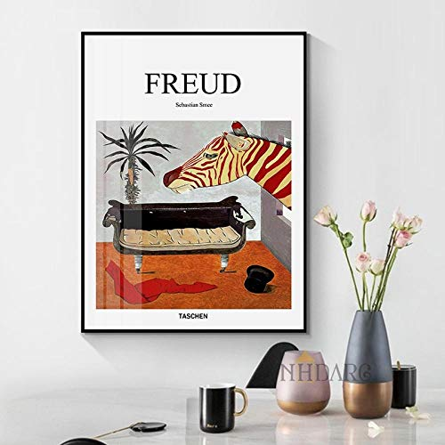 MXK Freud psicoanalista sofá Naturaleza Muerta Carteles e Impresiones Lienzo Arte Pintura Cuadro de Pared para Sala de Estar Pasillo clínica decoración 50x70 cm sin Marco