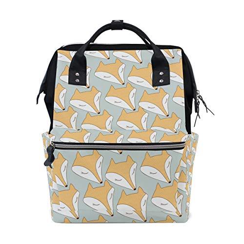 Sac à Dos Fox Head Sac à Dos pour Femme Maman Sangle réglable Outdoor Casual Daypack