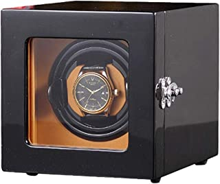 ZFF Watch Winder Single Automatic Winding Box for 1 Watch Waterproof PU Leather Display Box with Quiet Motor 12 Rotation Modes
