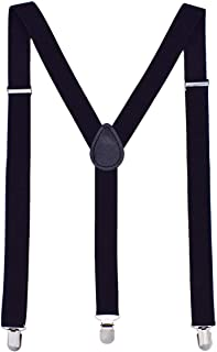 2.5cm Solid Suspenders Polyester Material Y-Shape with 3 Clips for Men and Women
