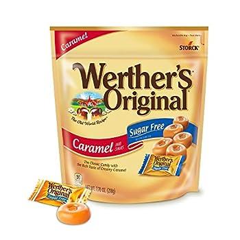 Werther s Original Hard Sugar Free Caramel Candy 7.7 Oz Bag