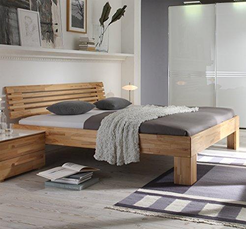 Preisvergleich Produktbild Hasena Wood Line Bett Premium 18 Kernbuche Füße Massa 20 Kopfteil Litto 160x200