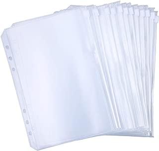 Antner 12 PCS Binder Pockets A5 Size Binder Zipper Folders for 6-Ring Notebook Binder, Waterproof PVC Pouch Document Filing Bags