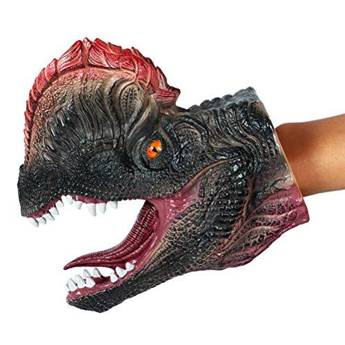FLORMOON Juego de Dinosaurios - Realista Guantes de dilofosaurio- Figuras de Dinosaurio de plástico - Decoración de Pasteles de cumpleaños, artículos de Fiesta para niños pequeños