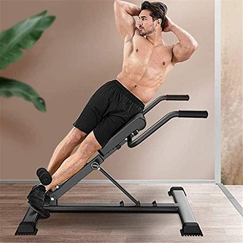 Byakns Commercial or Domestic Abdominal Training Fitness Equipment Adjustable Roman Chair, Multifunctional Back Hyperextension Bench, for Strengthening Abs, Workout Fitness Equipment, Home Gym, Black