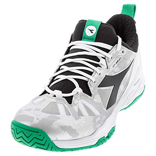 Diadora Speed Blushield Fly 2 Mens Tennis Shoe - White/Green/Black