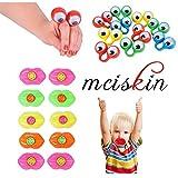 mciskin Marionetas de Dedo de Ojo Anillos de Ojos Saltones Favores de Fiesta Juguetes para los Niños,Labios De Silbato,Juegos de cumpleaños para niños(20 Piezas)