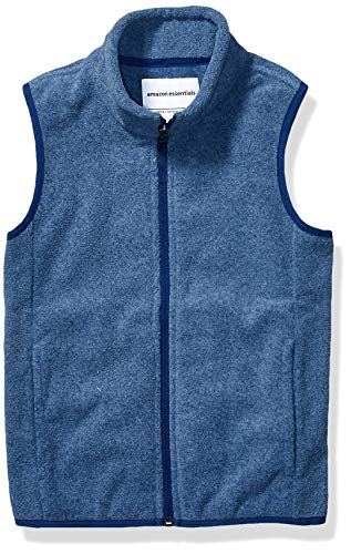Amazon Essentials Polar fleece-outerwear-vests, Blue Heather, Medium