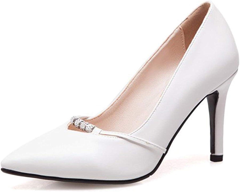 Unm Women's Sexy Rhinestone Stiletto High Heel Dressy Low Cut Slip On Pointed Toe Pumps shoes