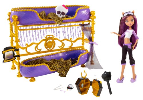 Monster high dead tired clawdeen wolf doll and bed playset for Le meuble headsets