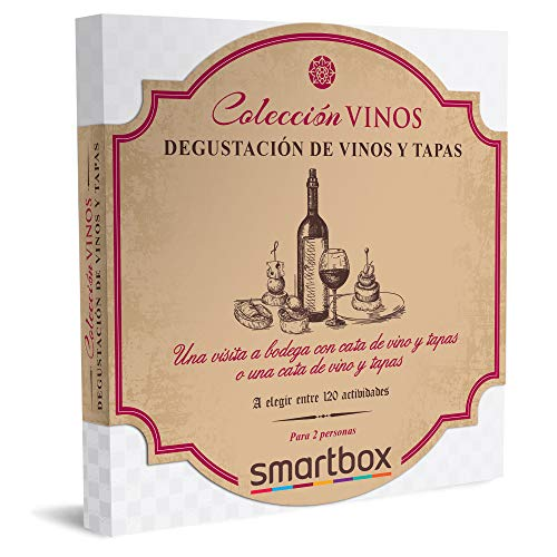 Smartbox - Caja Regalo Amor para Parejas - Degustación de vinos y Tapas - Ideas Regalos Originales - 1 Visita a Bodega con cata de Vino y Tapas o 1 cata de Vino y Tapas para 2 Personas