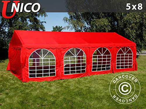 Dancover Partytent UNICO 5x8m, Rood