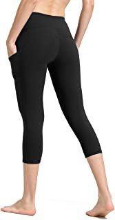 ALONG FIT Yoga Pants with Pockets, High-Waist/Mid-Waist Yoga Pants Women Tummy Control Sports Leggings Gym Tights with Hidden Pocket Yoga Capris Yoga Shorts