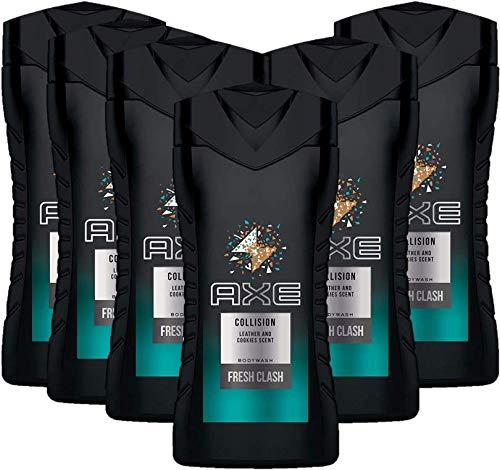 Axe Duschgel Collision Leather & Cookies für ein erfrischendes Duscherlebnis mit überraschendem Duft, 6er Pack (6 x 250 ml)