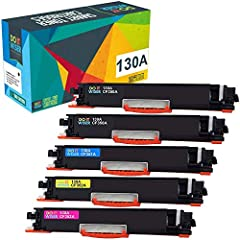 ✅ Estimated page yield: Black is 1,300 pages and each color is 1,000 pages, at 5% coverage (depends on printer and usage) ✅ Compatible with part number: HP 130A CF350A for black, CF351A for cyan, CF352A for yellow, CF353A for magenta ✅ Compatible wit...