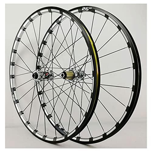 LvTu Bicicleta de Montaña Juego de Ruedas 26 27,5 Pulgadas 15mm / 12mm Eje Pasante Hub, XC MTB Rueda Delantera/Trasera Borde de Doble Pared Freno de Disco (Color : Titanium hub, Size : 27.5 Inch)