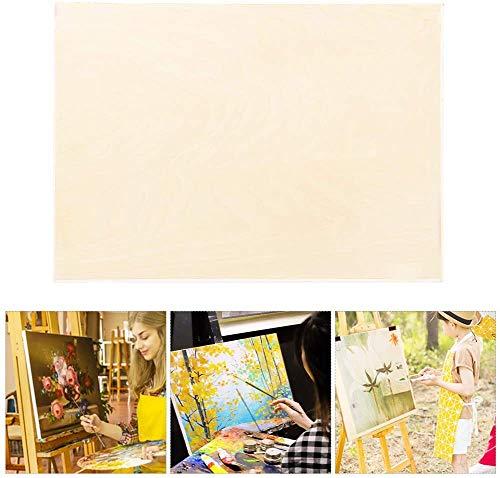 Malbrett aus Holz, 45 x 30 cm Pappel-Skizzenbretter Holz-Wiegen-Paneele Malzeug-Skizzentisch für Kunsthandwerk, Malerei und Kunst(8K Hollow)