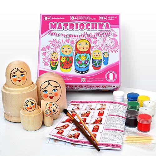 Juego de 5 piezas 16 cm. Muñecas de anidación rusas Juguetes para la creatividad...