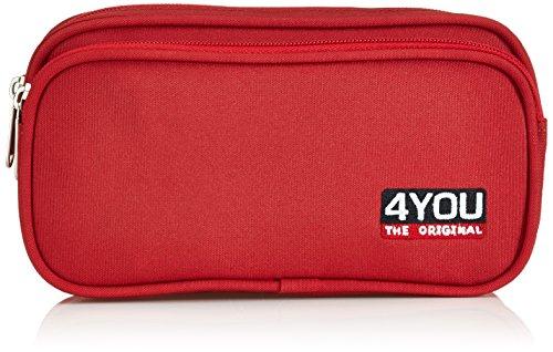 4YOU 11360060000_Chili_20 - Bolsillos Sueltos para Mochila, Color Rojo, Talla 20 cm