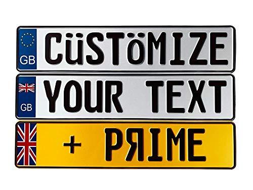 European License Plates Great Britain Custom