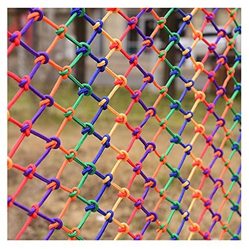 BWBZ Red de Seguridad de Nailon de Color Red de Cuerda de Cáñamo Personalización de Soporte Sin Aditivos Suave Y Transpirable Grosor de La Cuerda 6 Mm (0,2 Pulgadas) Distancia Neta 10 Cm (4 Pulgadas)