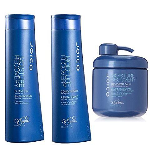 Joico Moisture Recovery Shampoo & Conditioner, 10.1 Oz & Moisture Recovery Treatment Balm, 16.9 Oz