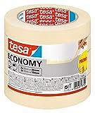 Tesa masquer universal écologique ruban adhésif en lot de 4 - adhésif de masquage pour travaux de peinture - sans solvant, détachable sans résidus - 2x 50m x 19 mm + 2x 50m x 30mm+