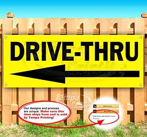 Luxury Drive-Thru 13 oz Purchase Banner Single-S Non-Fabric Heavy-Duty Vinyl