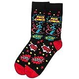 Fck Cancer Socks - Funny Gift for Cancer Survivor, Doctor, Nurse or Chemo Patient - For Men or Women (Superhero)