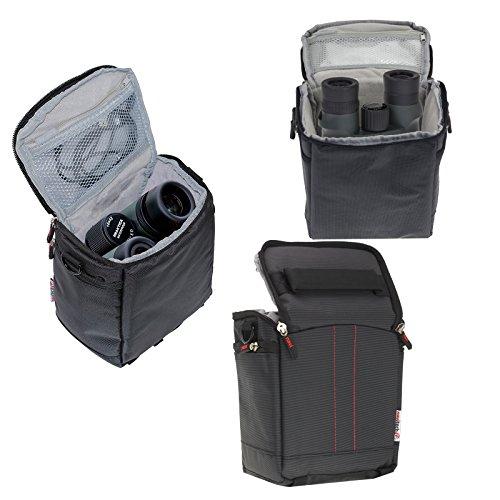 Navitech Étui de Voyage binoculaire Noir Compatible avec Nikon PROSTAFF 7S 10X42